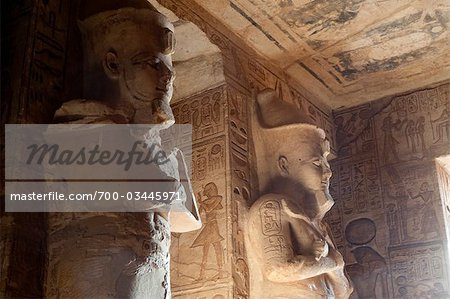 Temple at Abu Simbel, Nubia, Egypt Stock Photo - Rights-Managed, Image code: 700-03445971