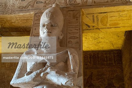 Statue in The Great Temple at Abu Simbel, Nubia, Egypt Stock Photo - Rights-Managed, Image code: 700-03445973