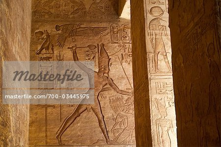 Hierglyphs in Great Temple, Abu Simbel, Nubia, Egypt Stock Photo - Rights-Managed, Image code: 700-03445975