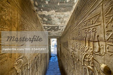 Temple of Horus, Edfu, Egypt Stock Photo - Rights-Managed, Image code: 700-03445997