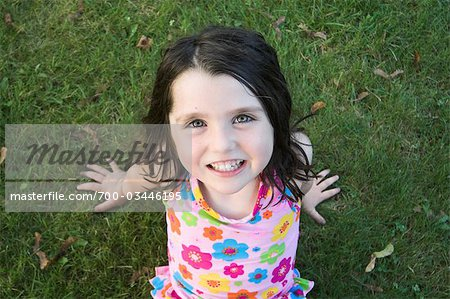 Portrait of Girl Smiling Stock Photo - Rights-Managed, Image code: 700-03446195
