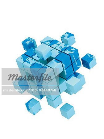 World Map on 3D Cube Stock Photo - Rights-Managed, Image code: 700-03448748