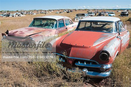 Old, Abandoned Cars in Junk Yard, Desert Southwest, Southwestern United States, USA Stock Photo - Rights-Managed, Image code: 700-03451074