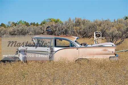 Old, Abandoned Cars in Junk Yard, Desert Southwest, Southwestern United States, USA Stock Photo - Rights-Managed, Image code: 700-03451077