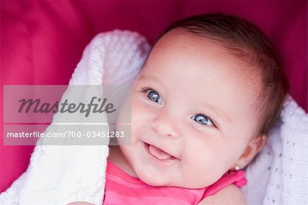 Baby Girl Smiling Stock Photo - Rights-Managed, Image code: 700-03451283