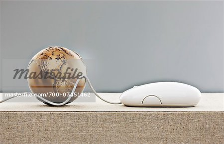 Globe and Computer Mouse Stock Photo - Rights-Managed, Image code: 700-03451462