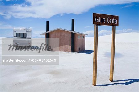 RV and Nature Centre Outhouse, White Sands National Monument, New Mexico, USA Stock Photo - Rights-Managed, Image code: 700-03451649