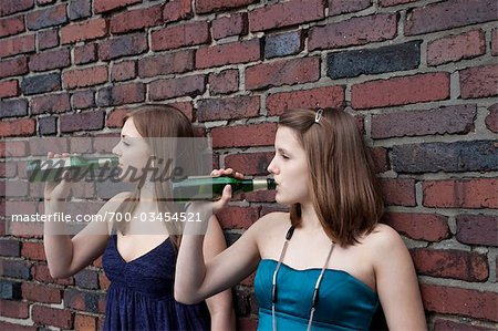 Teenage Girls Drinking Alcohol Stock Photo - Rights-Managed, Image code: 700-03454521