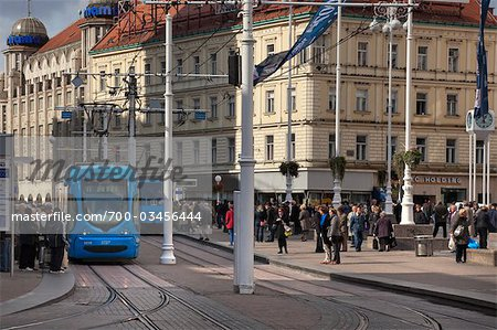 View of Jelacic Square, Zagreb, Croatia Stock Photo - Rights-Managed, Image code: 700-03456444
