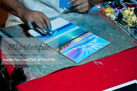Painting with Fingers, Mexico Stock Photo - Rights-Managed, Image code: 700-03456784