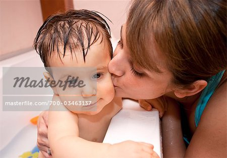 Mother Kissing Baby Boy Stock Photo - Rights-Managed, Image code: 700-03463137
