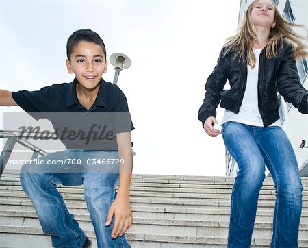 Portrait of Young Boy and Girl Stock Photo - Rights-Managed, Image code: 700-03466729