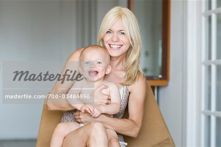 Mother and Son Sitting Together Stock Photo - Rights-Managed, Image code: 700-03484990