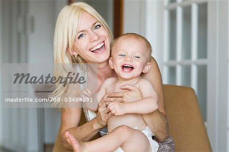Mother and Son Laughing Stock Photo - Rights-Managed, Image code: 700-03484991