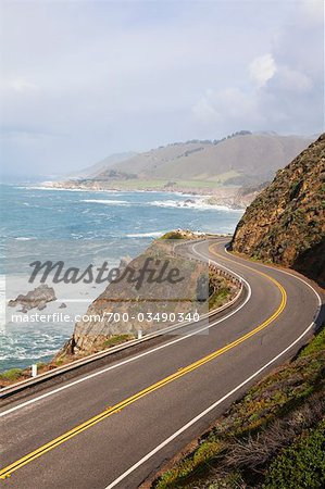 Highway #1, Big Sure Coastline, California, USA Stock Photo - Rights-Managed, Image code: 700-03490340