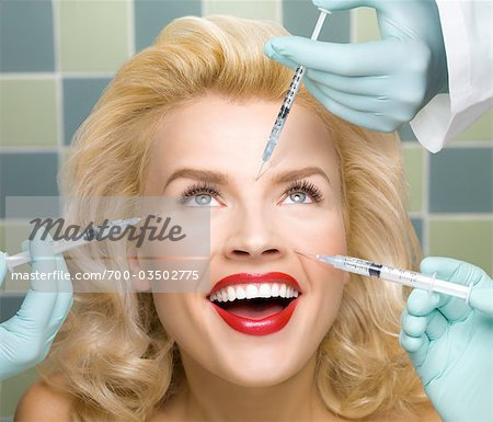 Woman Receiving Botox Treatments Stock Photo - Rights-Managed, Image code: 700-03502775