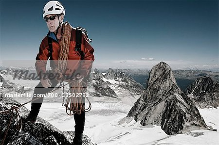 Mountain Climber, Bugaboos, British Columbia, Canada Stock Photo - Rights-Managed, Image code: 700-03502792