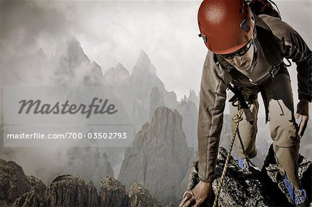 Man Rock Climbing Stock Photo - Rights-Managed, Image code: 700-03502793