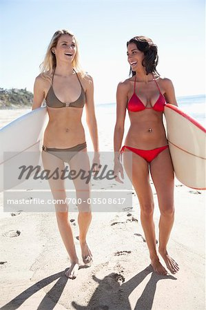 Surfer Girls at Zuma Beach, Malibu, California, USA Stock Photo - Rights-Managed, Image code: 700-03508617