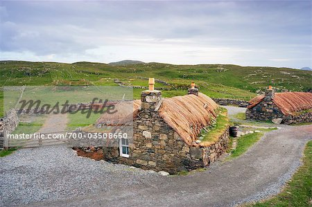 Black House Village, Garenin, Isle of Lewis, Scotland Stock Photo - Rights-Managed, Image code: 700-03508650