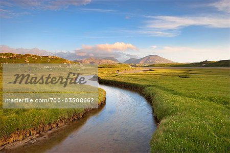 River and Salt Marsh, Isle of Lewis, Outer Hebrides, Hebrides, Scotland, United Kingdom Stock Photo - Rights-Managed, Image code: 700-03508662