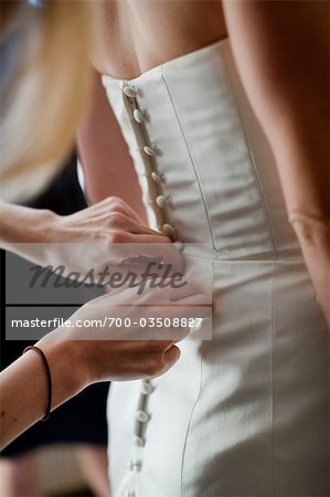 Buttoning Bridal Gown Stock Photo - Rights-Managed, Image code: 700-03508827