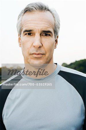 Portrait of Man Outdoors Stock Photo - Rights-Managed, Image code: 700-03519165