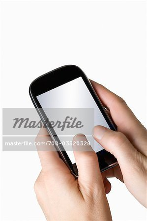 Hands Holding Smartphone Stock Photo - Rights-Managed, Image code: 700-03520328