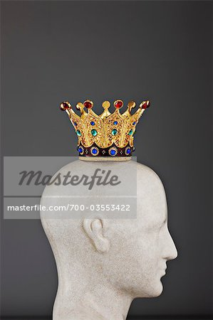 Jeweled Crown on Model of Head Stock Photo - Rights-Managed, Image code: 700-03553422