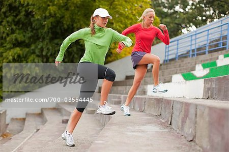 Women Running up Steps, Green Lake Park, Seattle, Washington, USA Stock Photo - Rights-Managed, Image code: 700-03554445