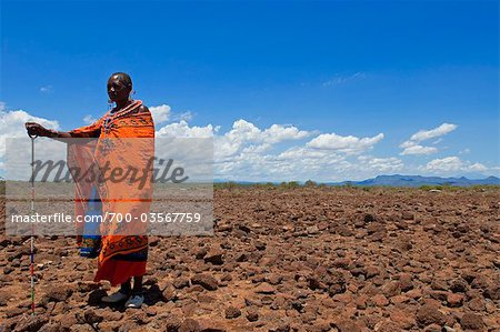 Portrait of Masai at Magadi Lake Village, Kenya Stock Photo - Rights-Managed, Image code: 700-03567759