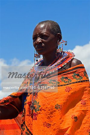 Portrait of Masai at Magadi Lake Village, Kenya Stock Photo - Rights-Managed, Image code: 700-03567760