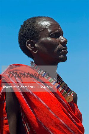 Portrait of Masai at Magadi Lake Village, Kenya Stock Photo - Rights-Managed, Image code: 700-03567761