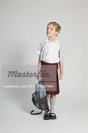 Portrait of Schoolgirl Stock Photo - Rights-Managed, Image code: 700-03567944