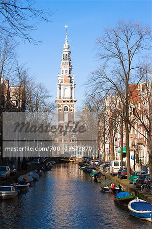 Zuiderkerk by Groenburgwal Canal, Amsterdam, Netherlands Stock Photo - Rights-Managed, Image code: 700-03573870