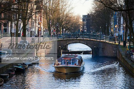 Tour Boat on Reguliersgracht Canal, Amsterdam, Netherlands Stock Photo - Rights-Managed, Image code: 700-03573871