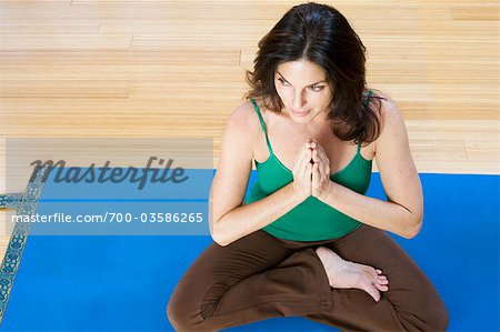 Woman Practising Yoga Stock Photo - Rights-Managed, Image code: 700-03586265