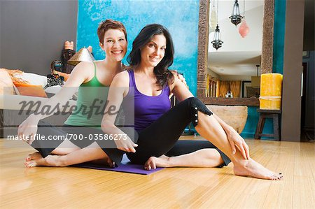 Women in Yoga Studio Stock Photo - Rights-Managed, Image code: 700-03586273