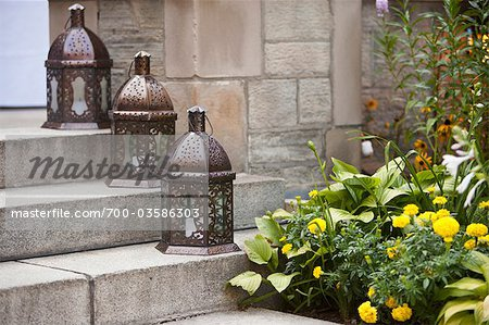 Lanterns on Steps Stock Photo - Rights-Managed, Image code: 700-03586303