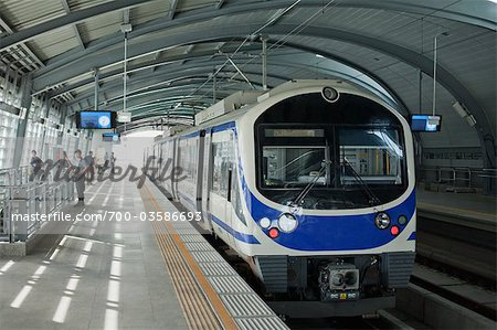 City Link Train in Station, Bangkok Thailand