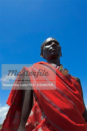 Portrait of Masai Man, Magadi Lake, Kenya, Africa Stock Photo - Rights-Managed, Image code: 700-03586759