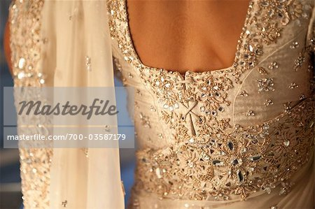 Back of Hindu Bride's Wedding Gown Stock Photo - Rights-Managed, Image code: 700-03587179
