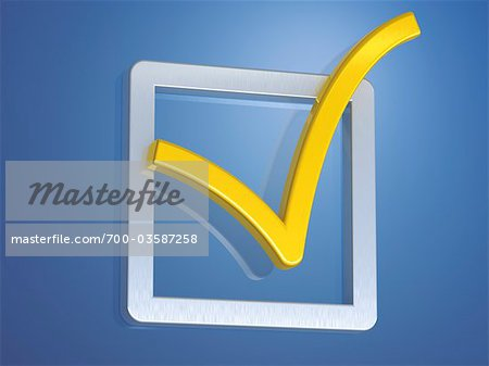 Check Mark in Box Stock Photo - Rights-Managed, Image code: 700-03587258