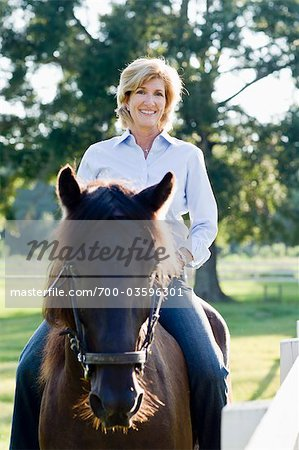 Woman Horseback Riding Stock Photo - Rights-Managed, Image code: 700-03596301