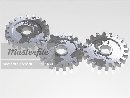 World Map on Gears Stock Photo - Rights-Managed, Image code: 700-03601450