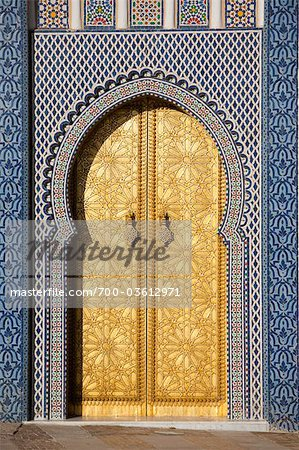 Door at Royal Palace, Fez, Morocco Stock Photo - Rights-Managed, Image code: 700-03612971