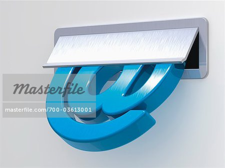 At Symbol in Mail Slot Stock Photo - Rights-Managed, Image code: 700-03613001