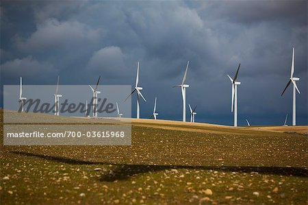 Wind Farm, Albacete, Castilla-La Mancha, Spain Stock Photo - Rights-Managed, Image code: 700-03615968