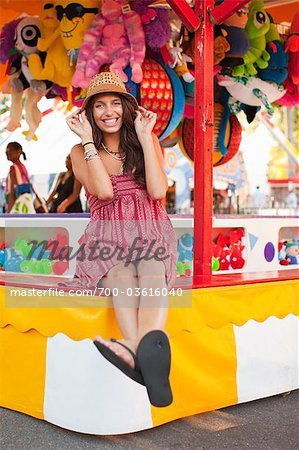 Young Woman at an Amusement Park, Portland, Oregon, USA Stock Photo - Rights-Managed, Image code: 700-03616040