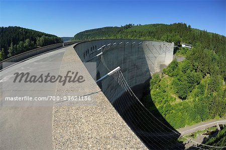 Retaining Wall of the Oker Dam, Harz Mountains, Harz, Lower Saxony, Germany